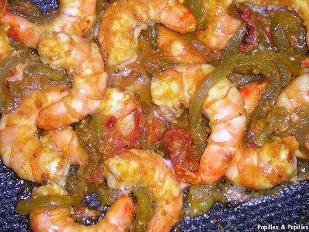 Image Papilles et Pupilles - Crevettes au wok sauce piquante