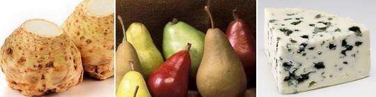 céleri, poires, roquefort