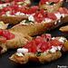 Tartines tomates feta basilic