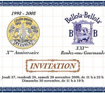 Rendez-vous gourmands Byzance 2008