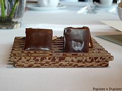 chocolat fourré au praliné de cèpes