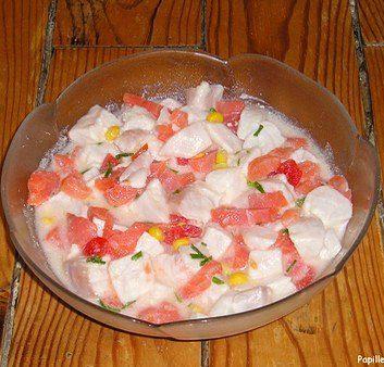 Salade de poisson cru à ma façon