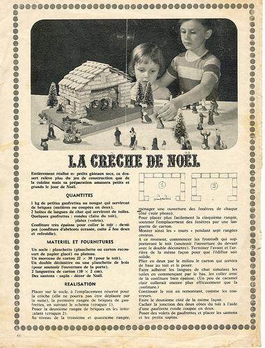 Crèche de Noël en petits gâteaux secs