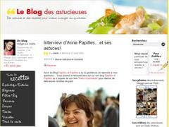 Le blog des Astucieuses - Interview Anne - Papilles et Pupilles