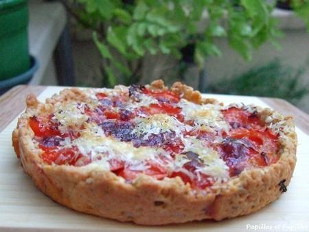 Tarte tomates zahtar parmesan