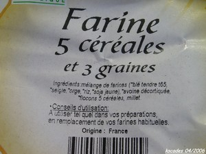 Farine multi céréales