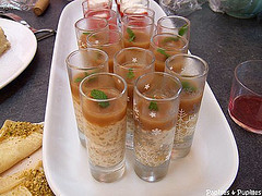 Verrines de perles du japon à la crème d