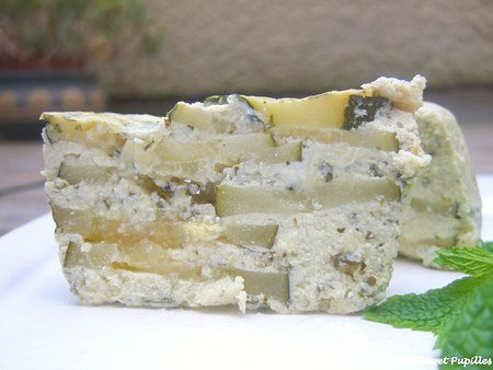 Terrines courgettes menthe