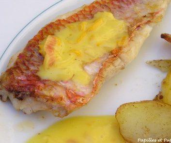 Filets de rougets au beurre d'orange