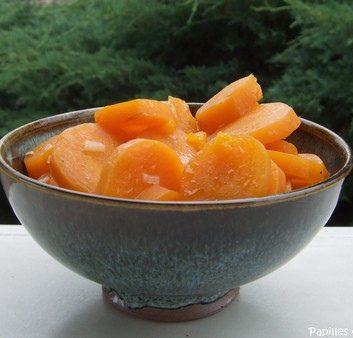 Carottes braisées au jus d'orange