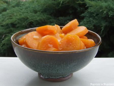 carottes braisées au jus d