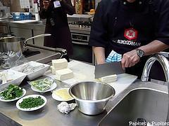 Tofu ferme coupé en dés