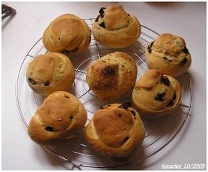 Petits pains aux olives, tomates, origan