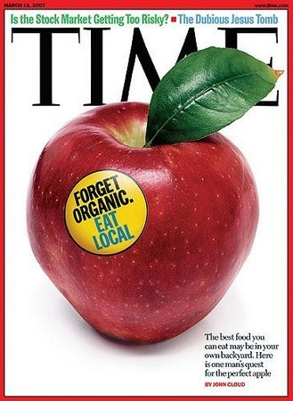 Couverture du Times - Forget Organic, eat local - 12 mars 2007