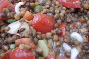Salade de lentilles à l'orientale