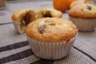 Muffins aux zestes d'orange coeur crème de marrons