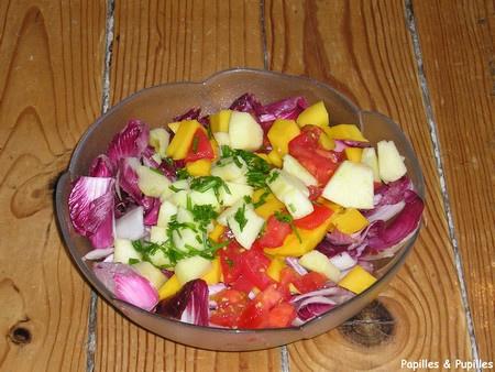 Salade de Carmine à la mangue