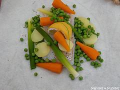 Papillote de poisson aux petits légumes