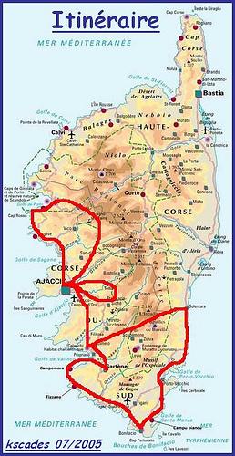 Corse - Itinéraire vacances