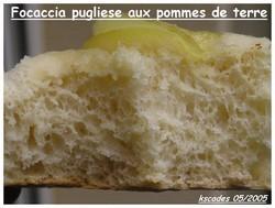 Focaccia pugliese aux pommes de terre