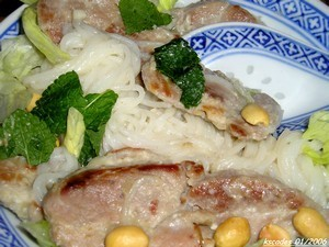 Bun Xao Thit ou porc au vermicelle