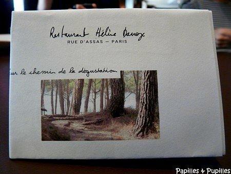 Carte - Hélène Darroze