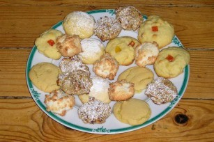 Assortiment de petits biscuits