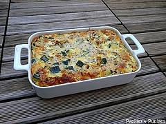 Gratin de courgettes à la mozzarella, menthe et pignons de pins
